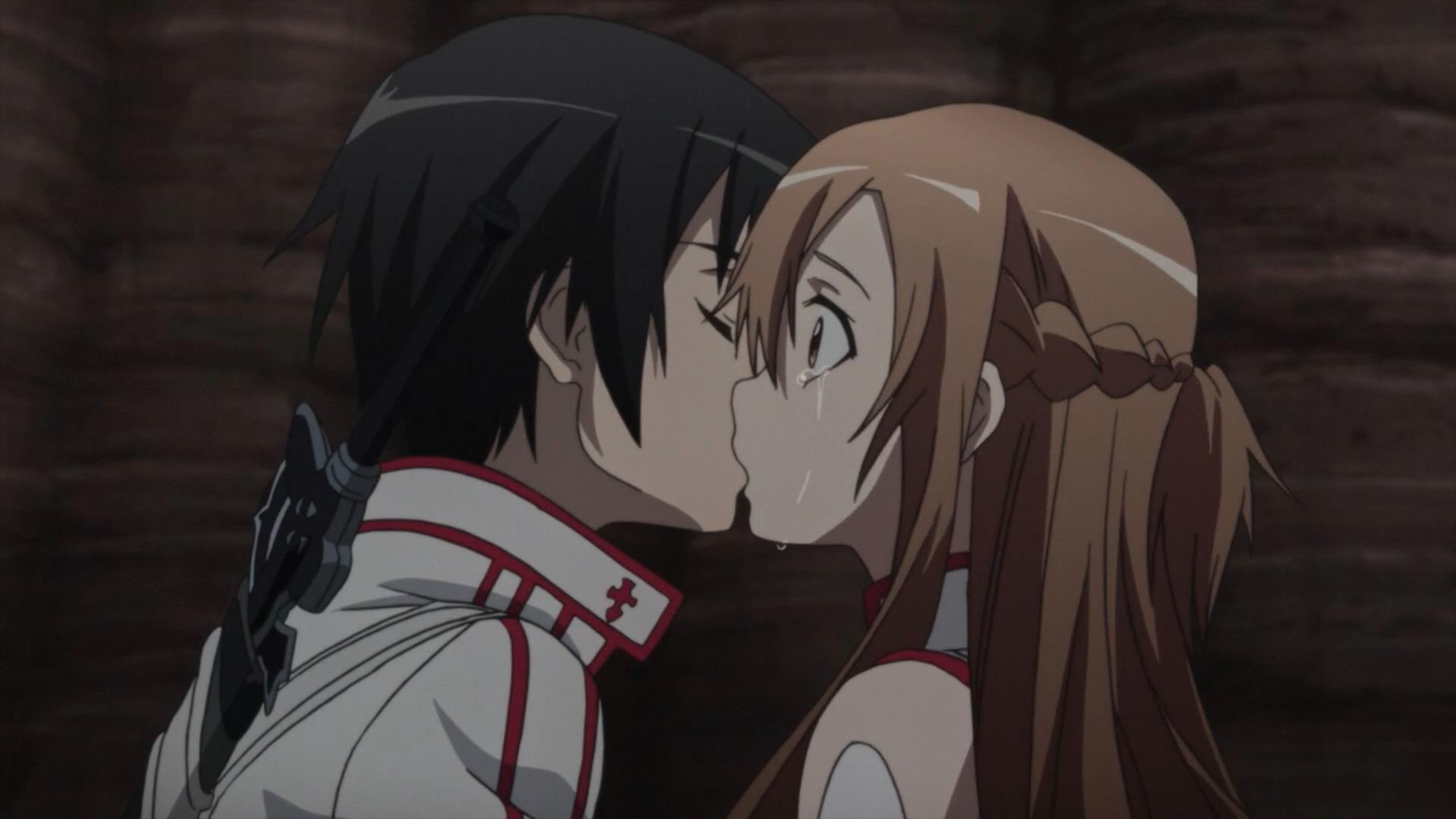 kirito kiss asuna